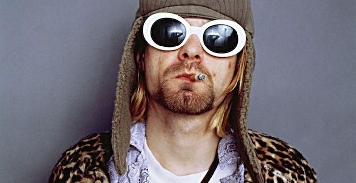 Singer Kurt Cobain Smoking Cigarette